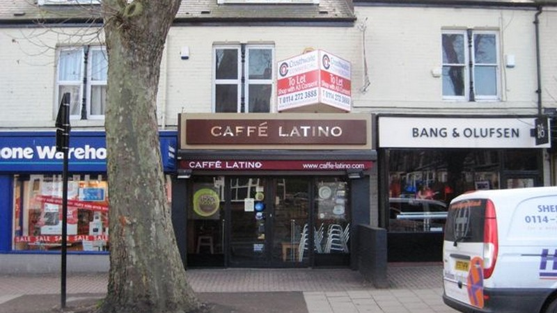 Former Caffe Latino Shop To Let on Ecclesall Road